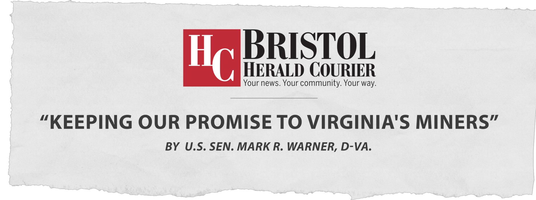 Senator Mark R  Warner: Fighting for Virginia's Coal Miners